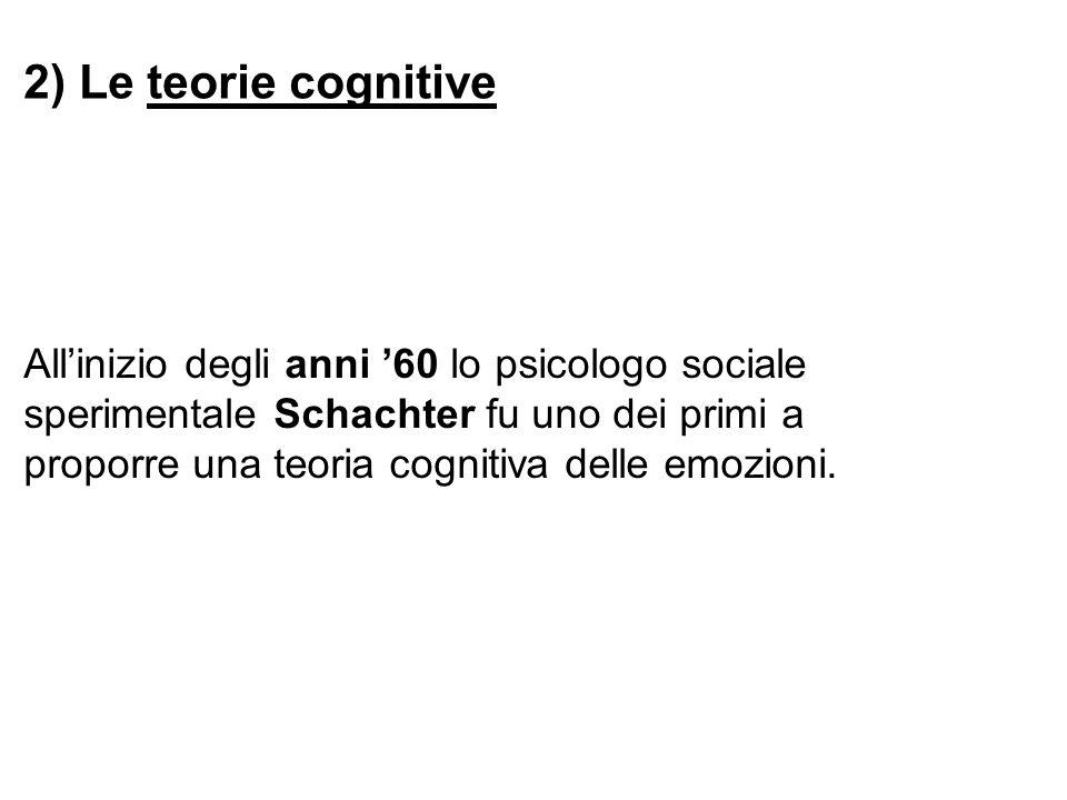 2) Le teorie cognitive