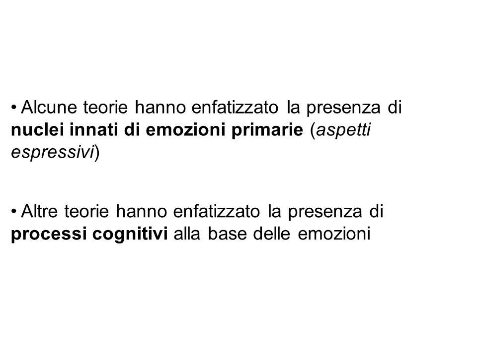 Alcune teorie hanno enfatizzato la presenza di nuclei innati di emozioni primarie (aspetti espressivi)