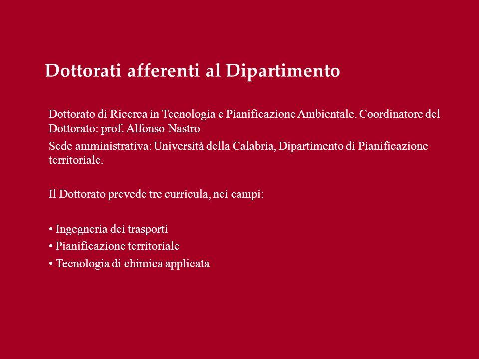Dottorati afferenti al Dipartimento
