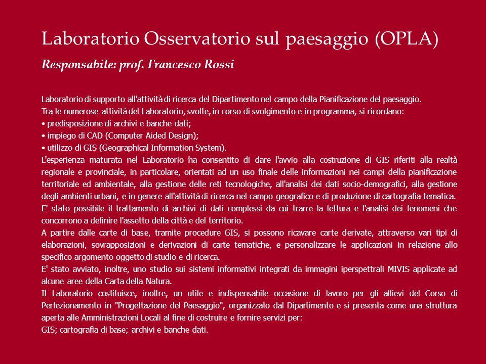 Laboratorio Osservatorio sul paesaggio (OPLA)
