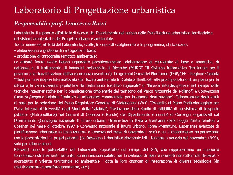 Laboratorio di Progettazione urbanistica