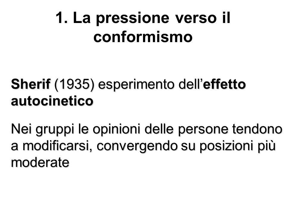 1. La pressione verso il conformismo
