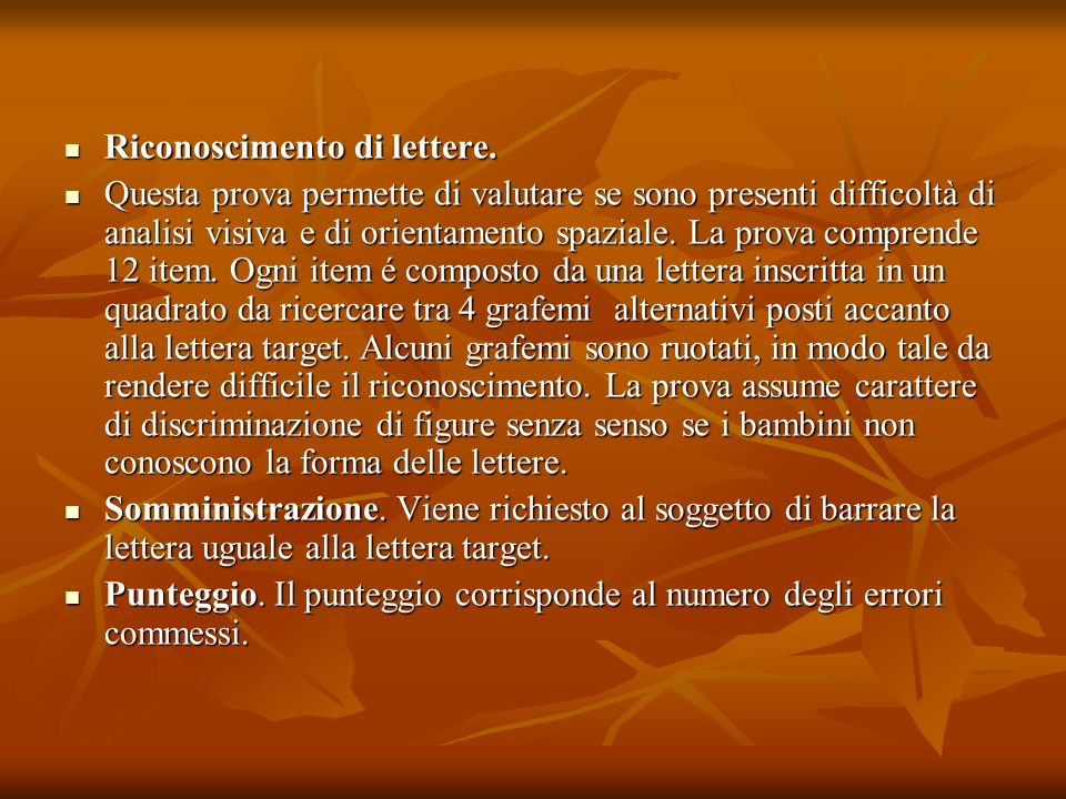 Riconoscimento di lettere.