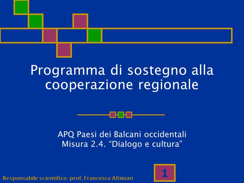 Programma di sostegno alla cooperazione regionale