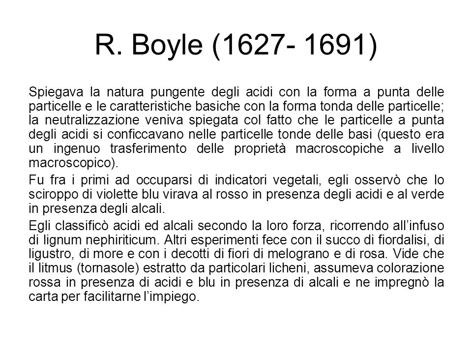 R. Boyle (1627- 1691)