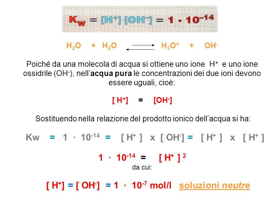 H2O + H2O H3O+ + OH-