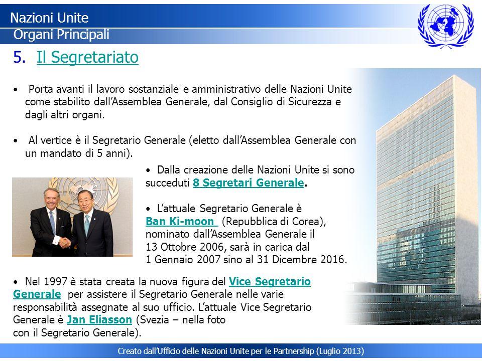 Nazioni Unite Il Segretariato Organi Principali
