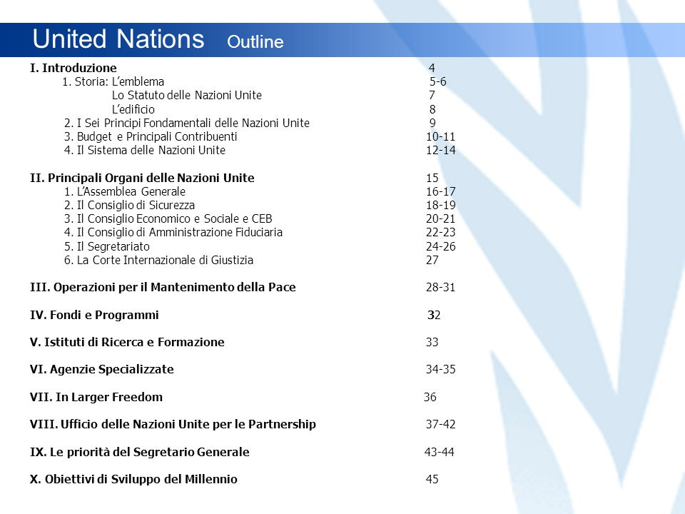 United Nations Outline