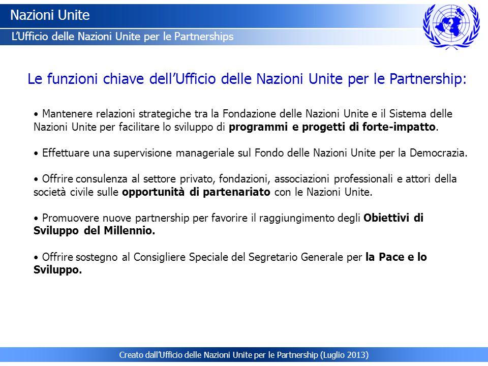 Creato dall ufficio delle nazioni unite per le partnership for Mobile con chiave per ufficio