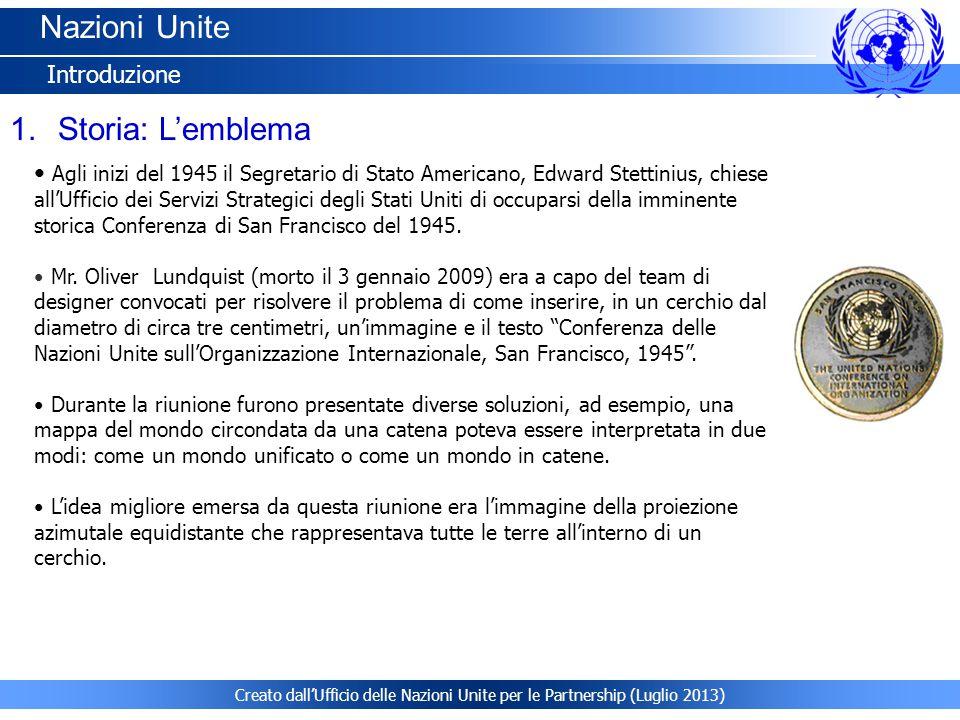 Nazioni Unite Storia: L'emblema Introduzione