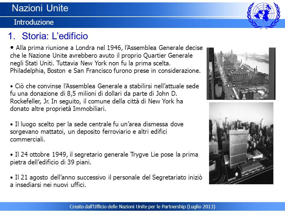 Nazioni Unite Storia: L'edificio Introduzione