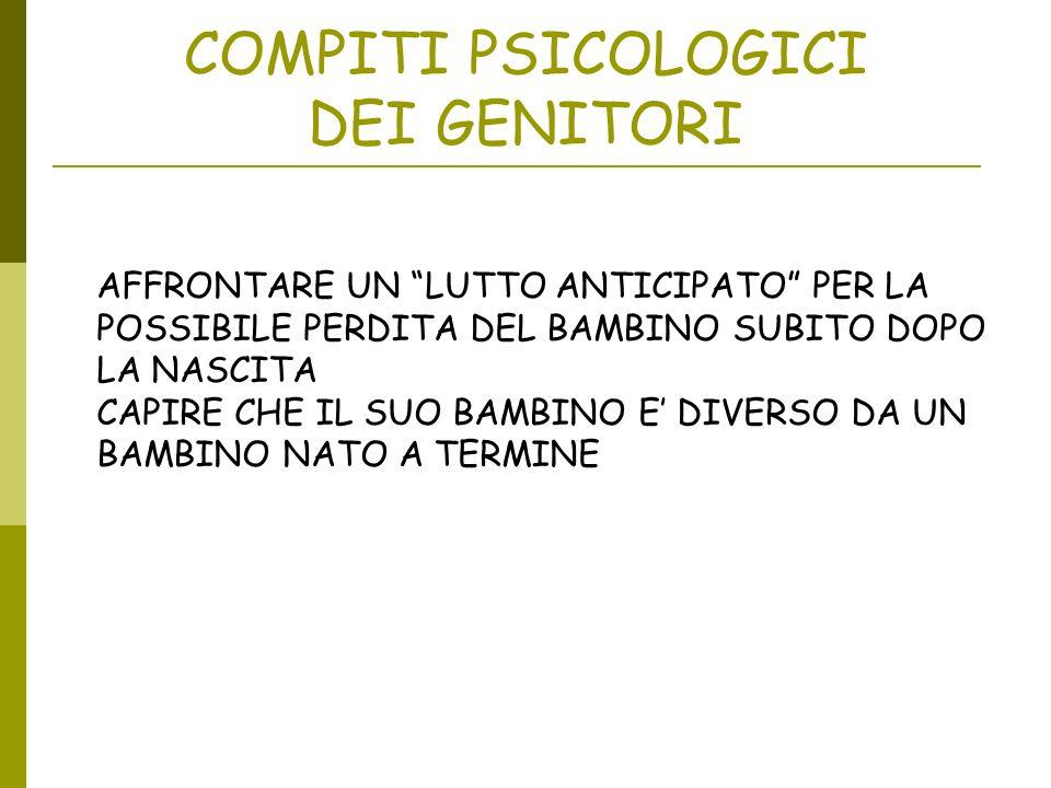 COMPITI PSICOLOGICI DEI GENITORI