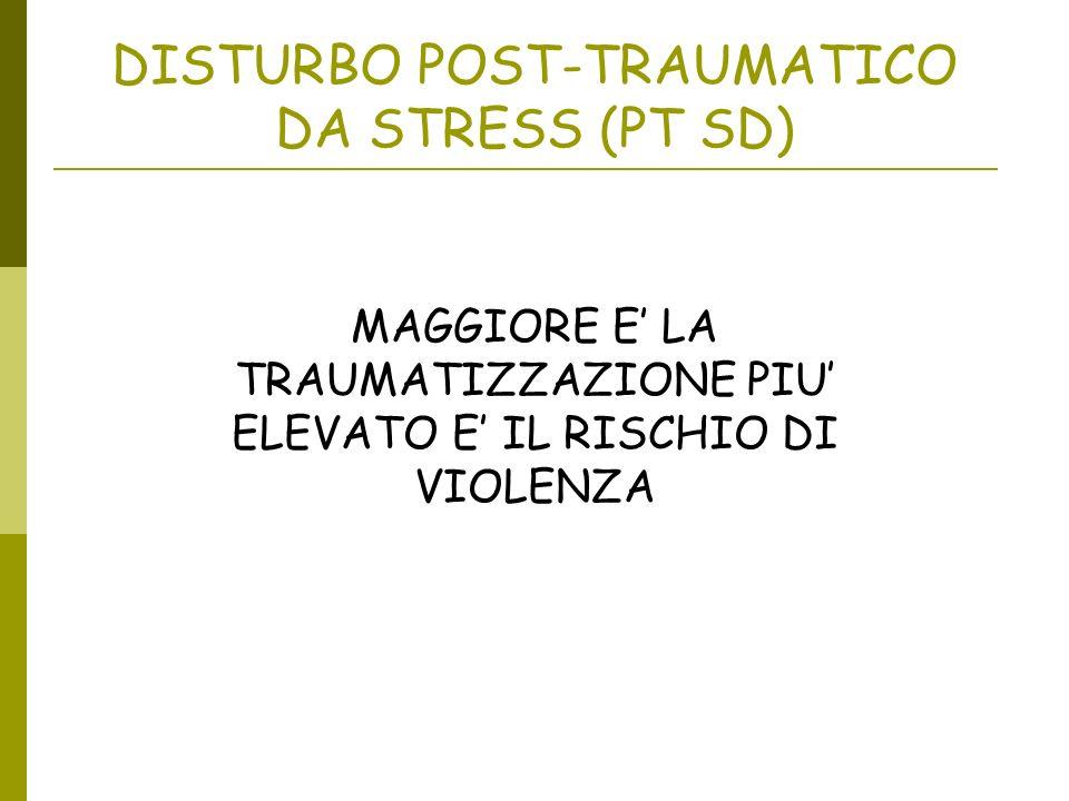 DISTURBO POST-TRAUMATICO DA STRESS (PT SD)