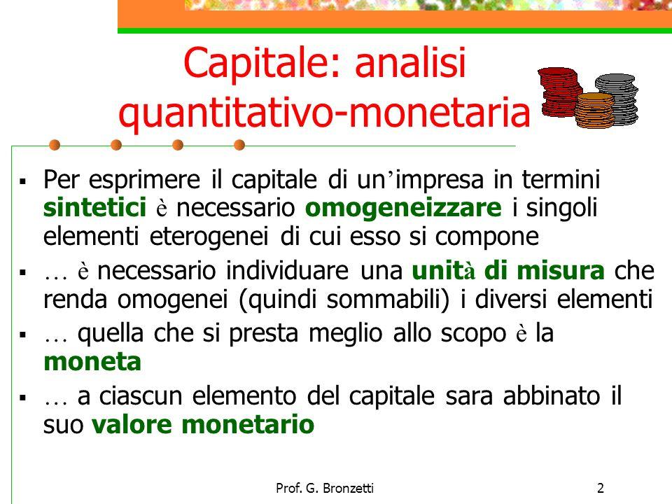 Capitale: analisi quantitativo-monetaria