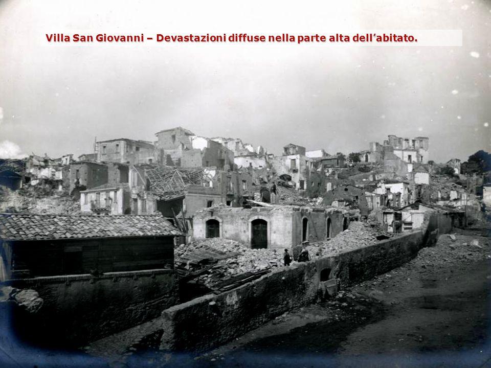Villa San Giovanni – Devastazioni diffuse nella parte alta dell'abitato.