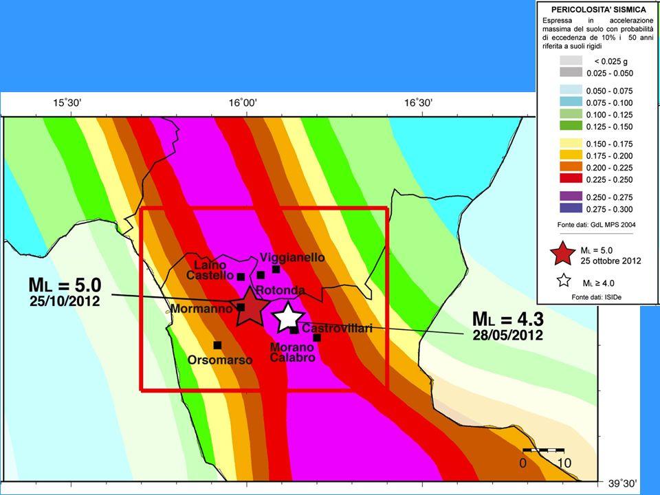 Zona a elevata pericolosità secondo la mappa del 2004