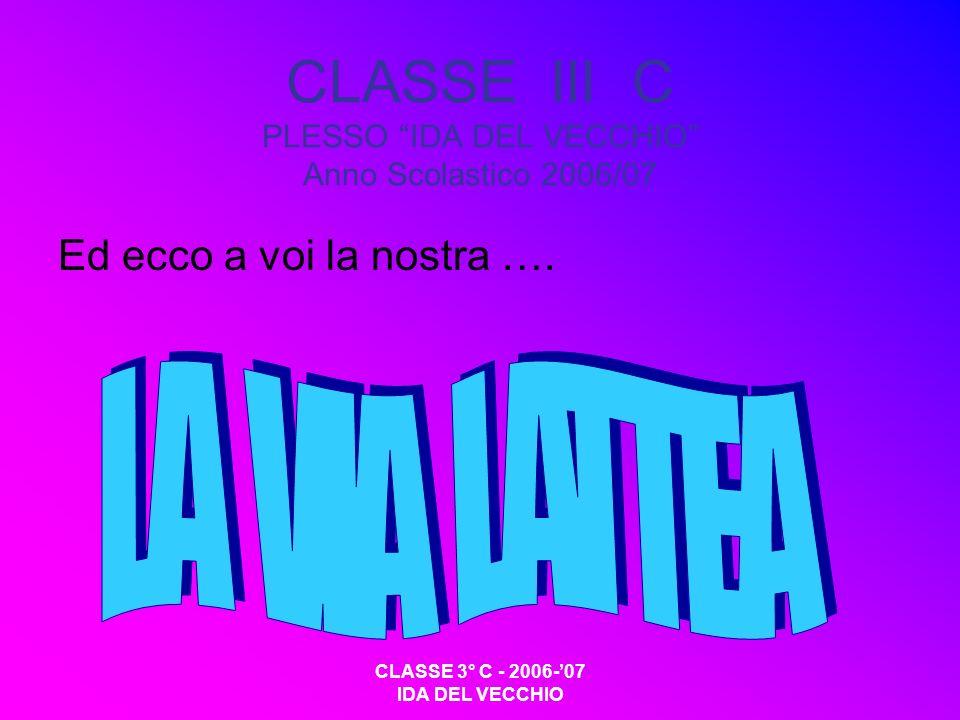 CLASSE III C PLESSO IDA DEL VECCHIO Anno Scolastico 2006/07