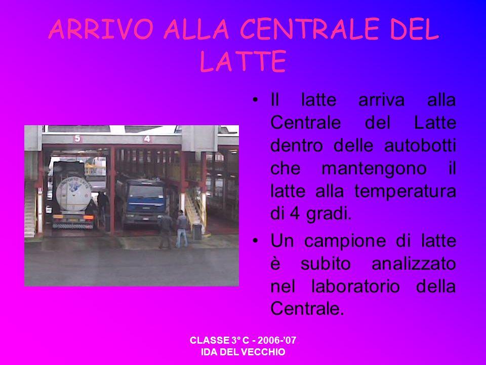ARRIVO ALLA CENTRALE DEL LATTE