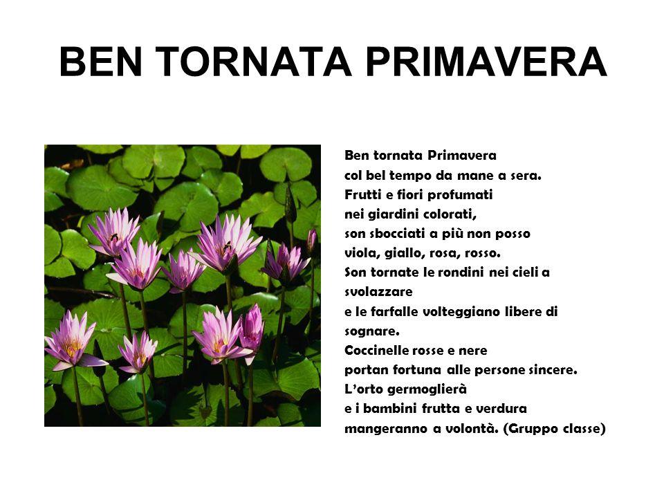 BEN TORNATA PRIMAVERA Ben tornata Primavera