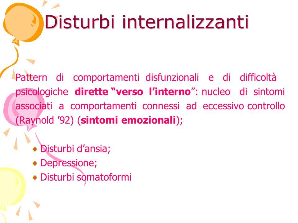 Disturbi internalizzanti