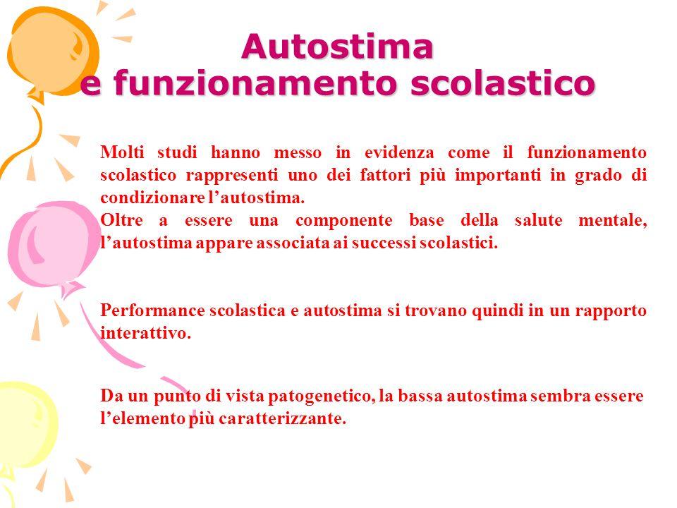 Autostima e funzionamento scolastico
