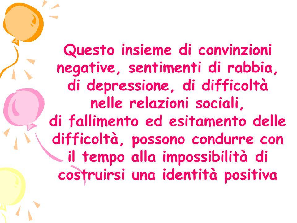 Questo insieme di convinzioni negative, sentimenti di rabbia, di depressione, di difficoltà nelle relazioni sociali,