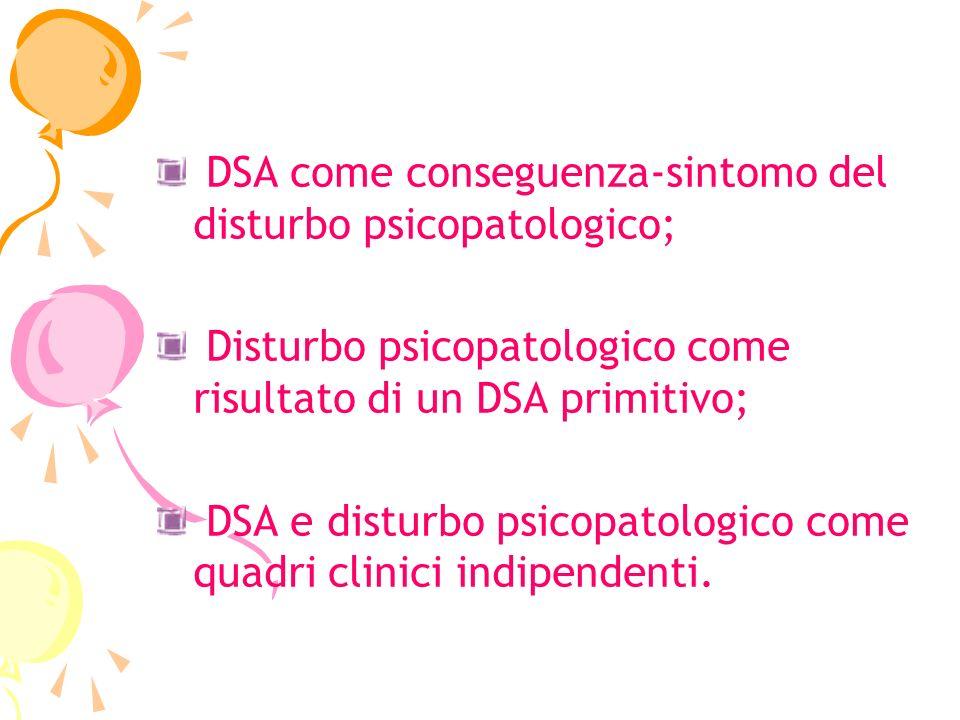 DSA come conseguenza-sintomo del disturbo psicopatologico;