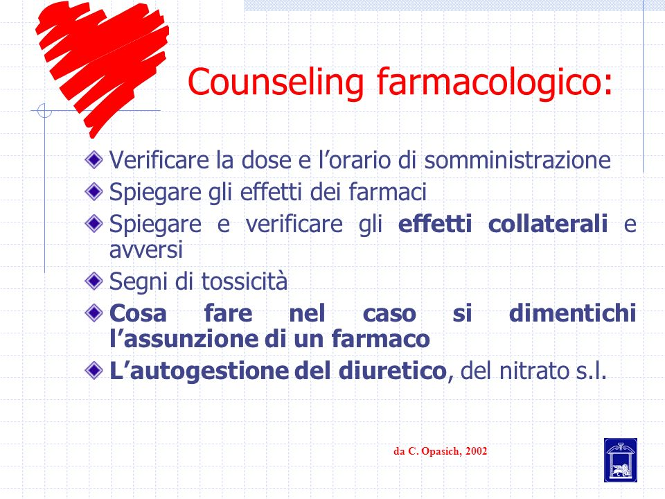 Counseling farmacologico:
