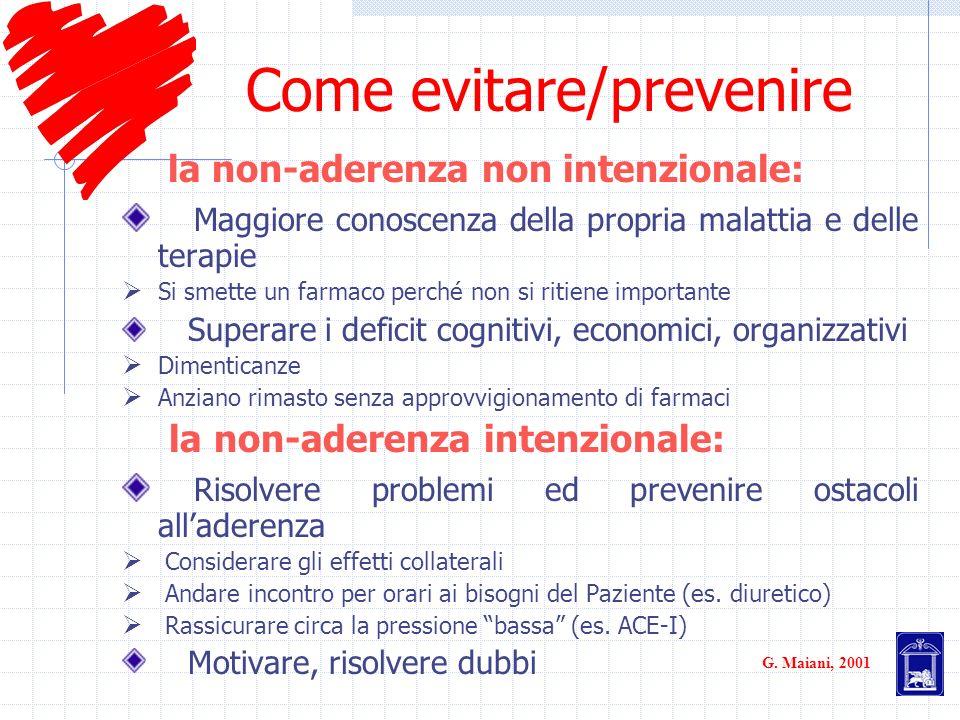 Come evitare/prevenire