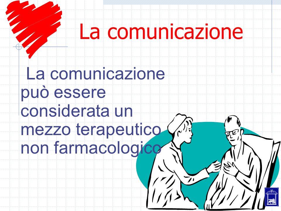 La comunicazione La comunicazione può essere considerata un mezzo terapeutico non farmacologico