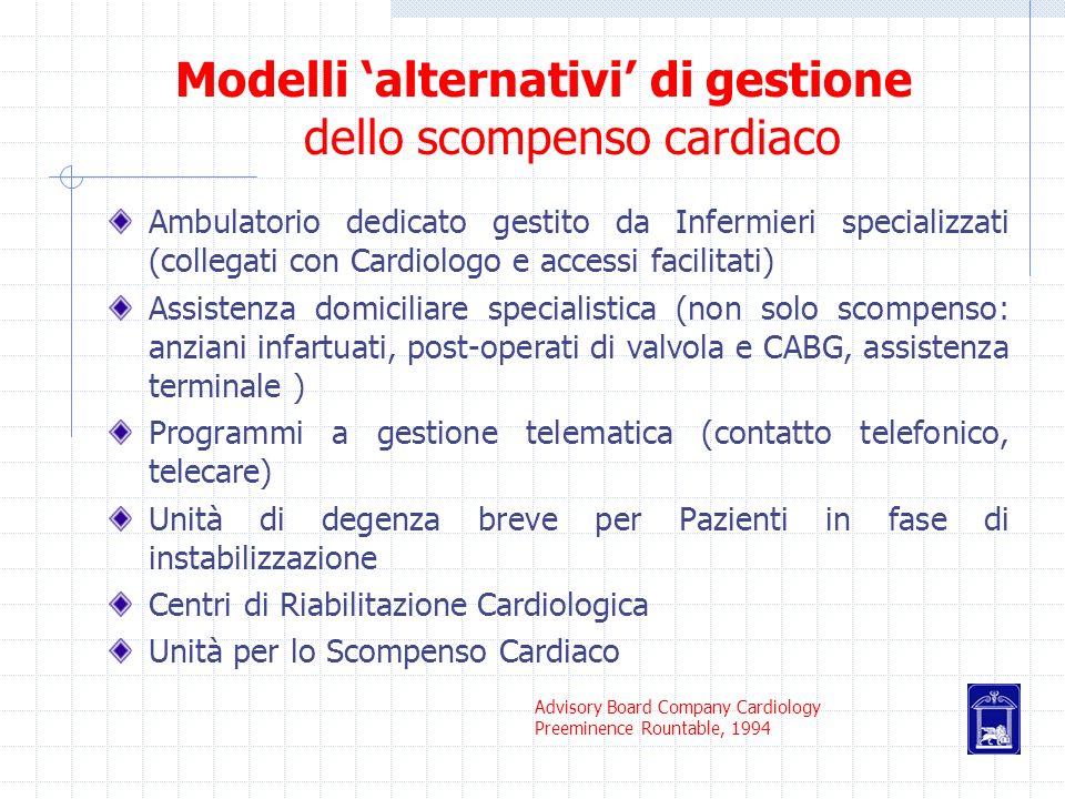 Modelli 'alternativi' di gestione dello scompenso cardiaco