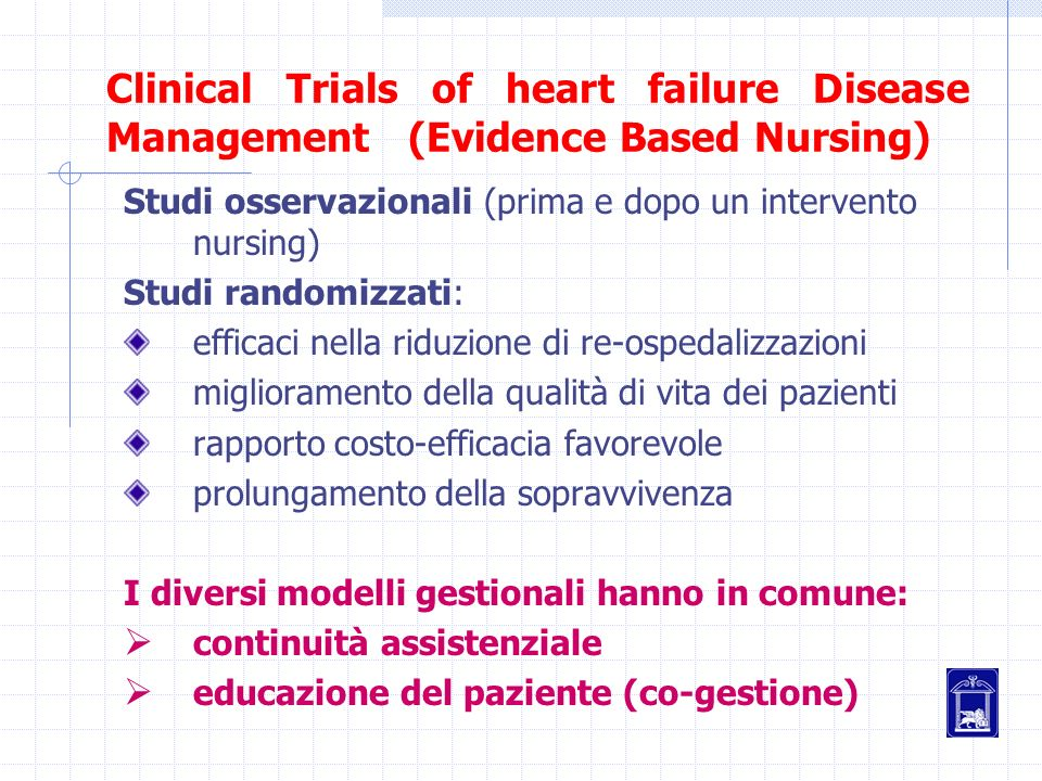 Clinical Trials of heart failure Disease Management (Evidence Based Nursing)