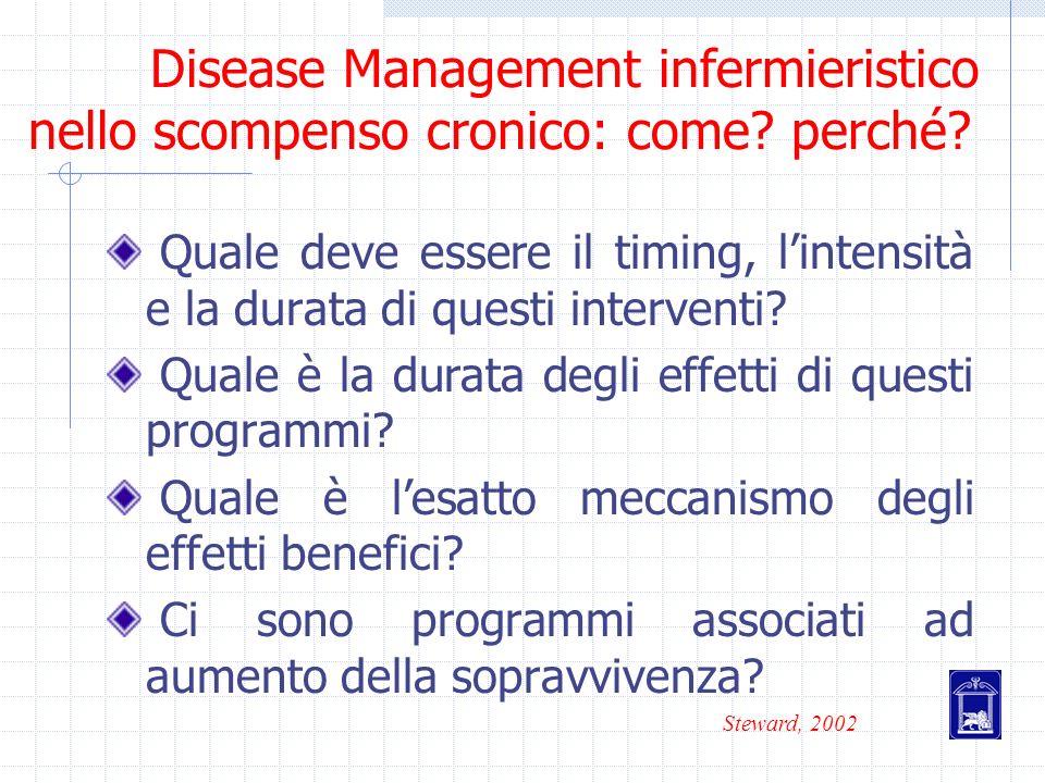 Disease Management infermieristico nello scompenso cronico: come