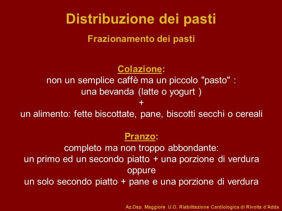 Distribuzione dei pasti