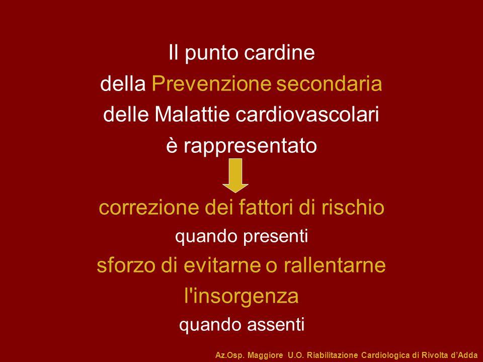 della Prevenzione secondaria delle Malattie cardiovascolari