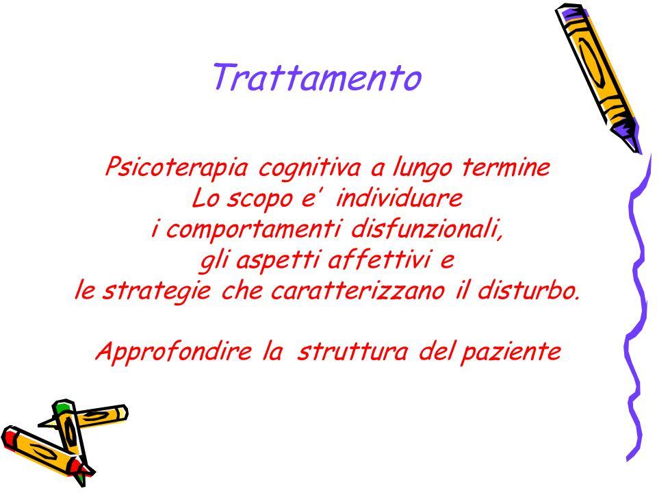 Trattamento Psicoterapia cognitiva a lungo termine
