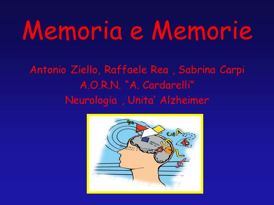 Memoria e Memorie Antonio Ziello, Raffaele Rea , Sabrina Carpi