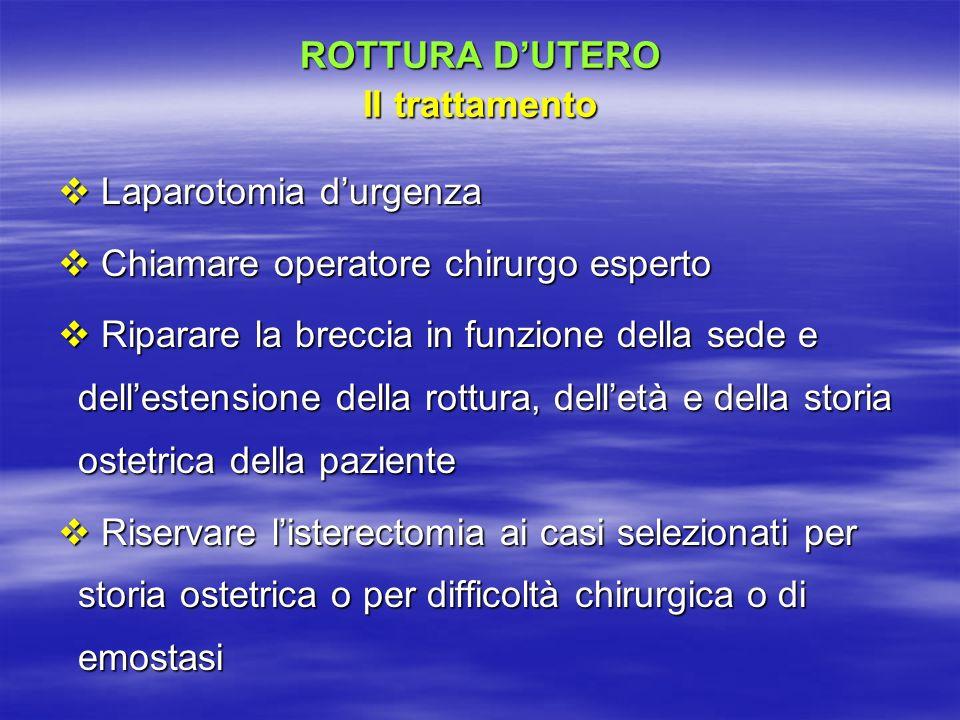 ROTTURA D'UTERO Il trattamento