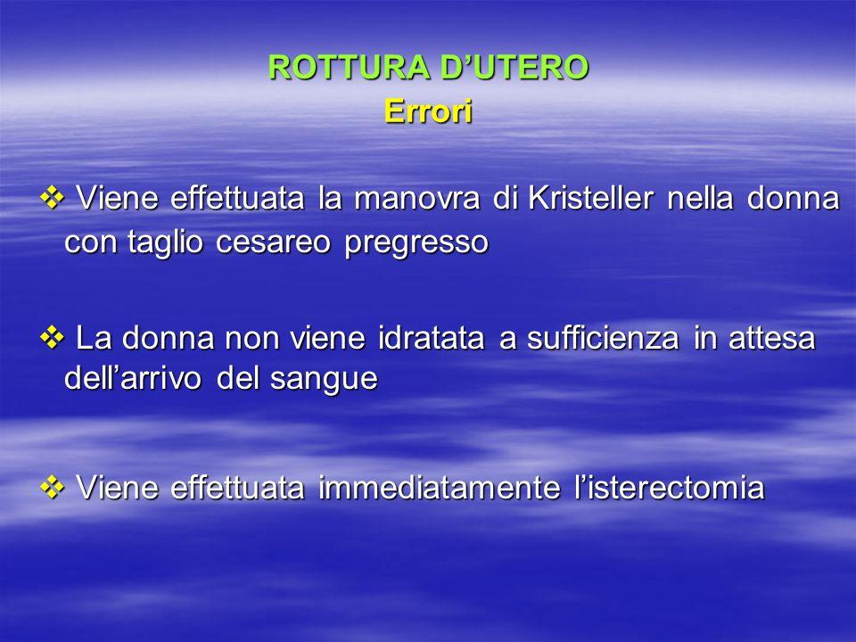 ROTTURA D'UTERO Errori