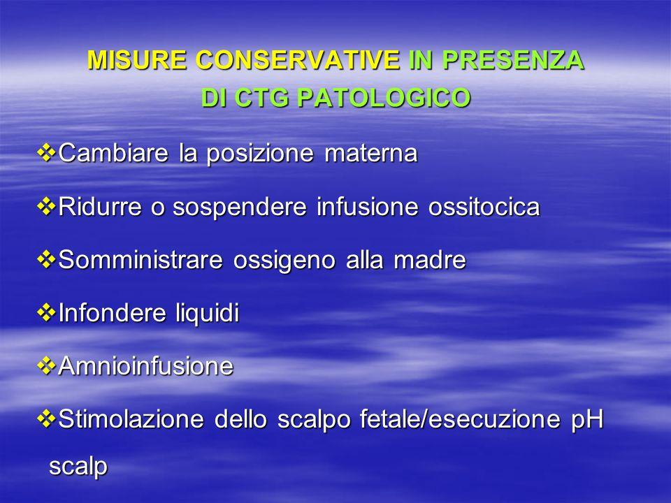 MISURE CONSERVATIVE IN PRESENZA DI CTG PATOLOGICO