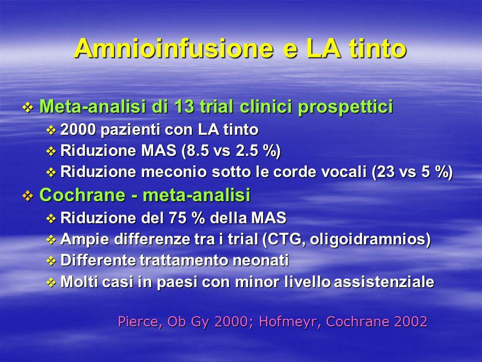 Amnioinfusione e LA tinto