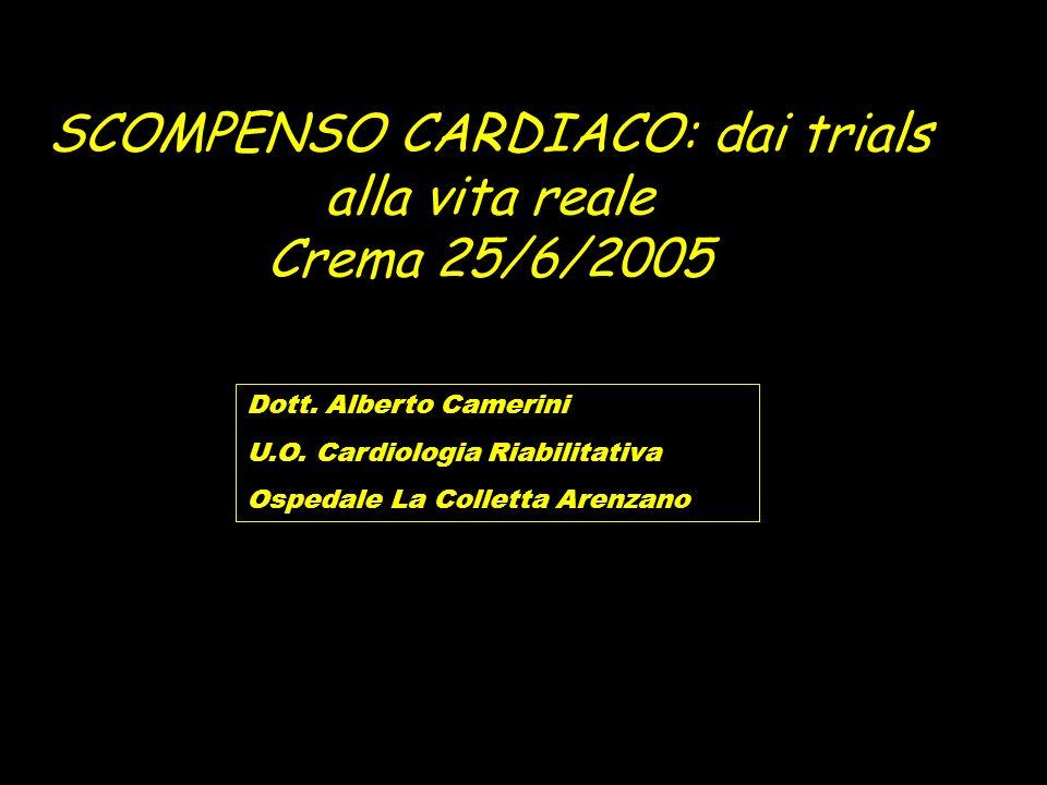 SCOMPENSO CARDIACO: dai trials alla vita reale Crema 25/6/2005