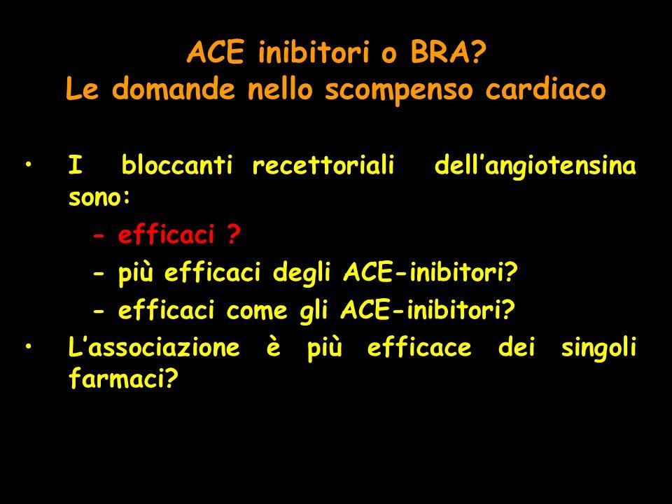 ACE inibitori o BRA Le domande nello scompenso cardiaco