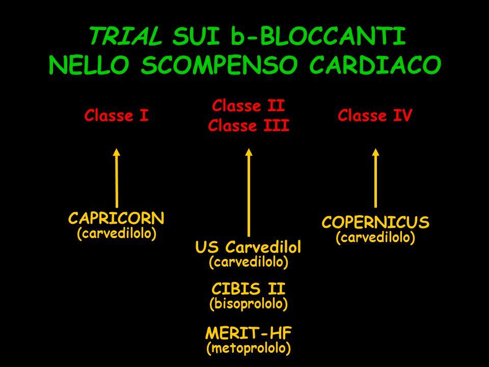 TRIAL SUI b-BLOCCANTI NELLO SCOMPENSO CARDIACO