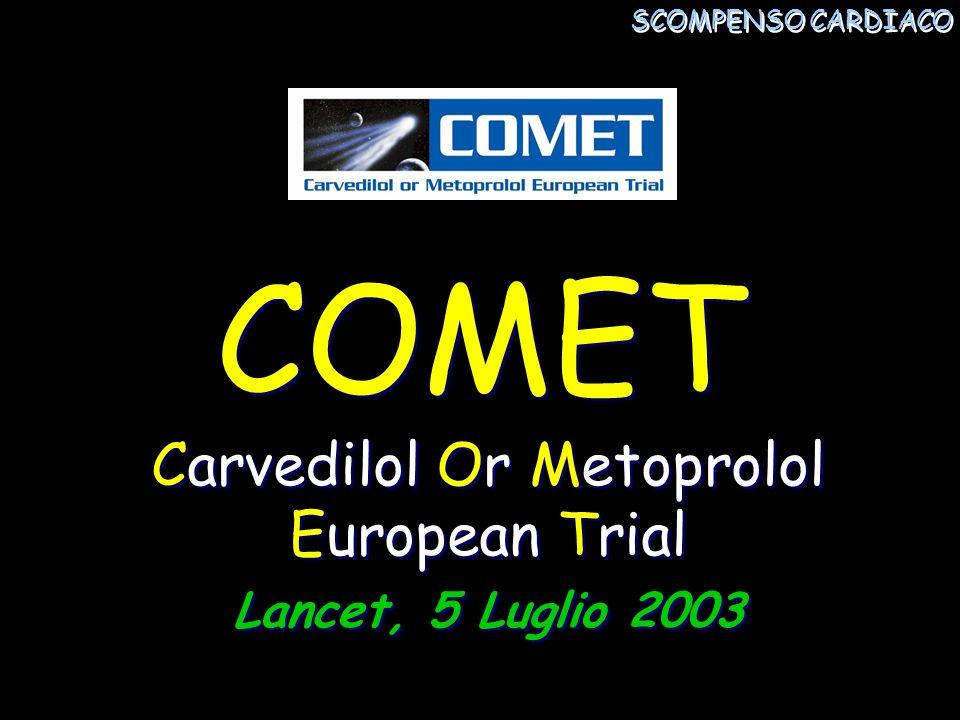 Carvedilol Or Metoprolol European Trial Lancet, 5 Luglio 2003