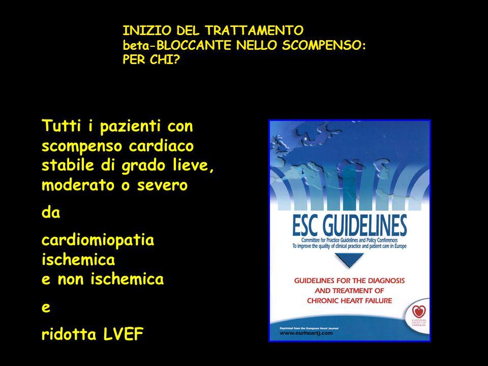 cardiomiopatia ischemica e non ischemica e ridotta LVEF