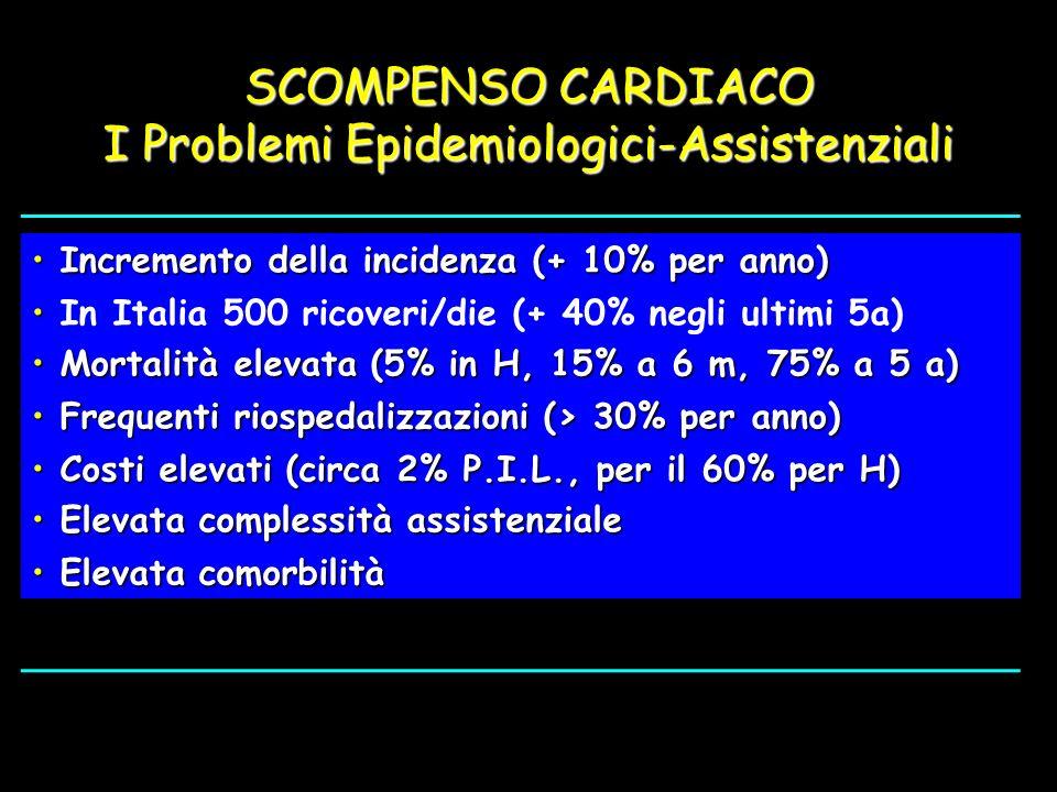 SCOMPENSO CARDIACO I Problemi Epidemiologici-Assistenziali