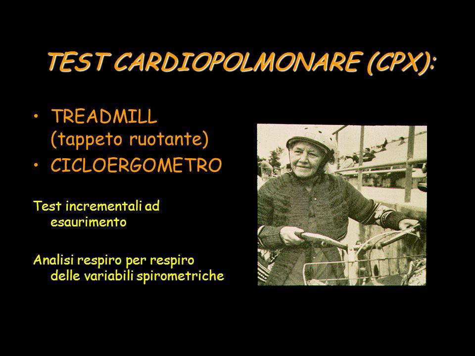 TEST CARDIOPOLMONARE (CPX):