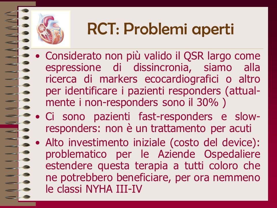 RCT: Problemi aperti
