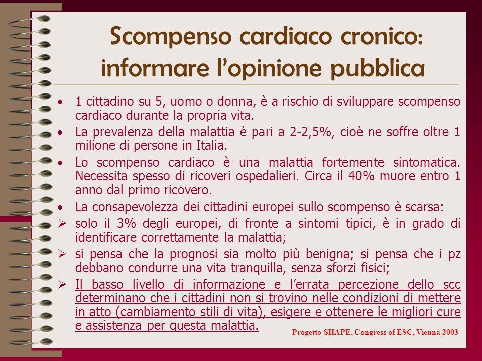 Scompenso cardiaco cronico: informare l'opinione pubblica